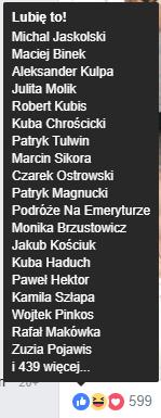 Konkursy Facebook Like - Polskie Profile